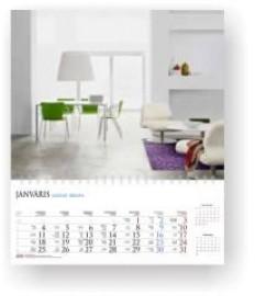 Sekciju sienas kalendārs ar noplēšamām mēnešu lapām 300x310mm, 1+1 daļas