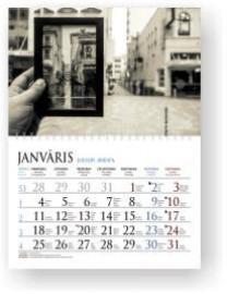 Sekciju sienas kalendārs ar noplēšamām mēnešu lapām 300x420mm, 1+1 daļas