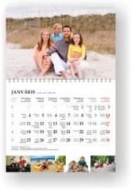 Sekciju sienas kalendārs ar noplēšamām mēnešu lapām 300x480mm, 1+1 daļas, ar malu apakšā